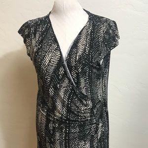 22W Polyester Stretch Wrap Style Dress